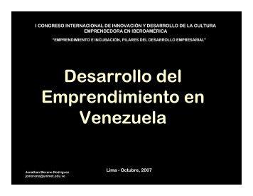 Desarrollo del Emprendimiento en Venezuela