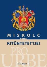 Miskolc Város Kitüntetettjei