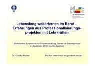 Vortrag Dr. Claudia Fischer - Weiterbildung