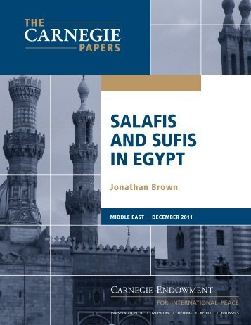 Salafis and Sufis in Egypt - Carnegie Endowment for International ...