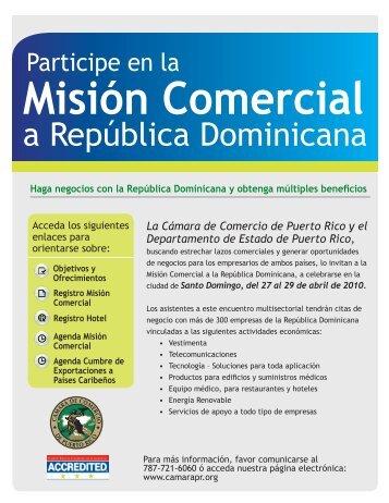 Misión Comercial - Cámara de Comercio de Puerto Rico