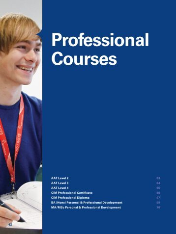 Professional Courses - Yeovil College