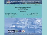 Reduction of Weld Fume Risk in Naval and Commercial ... - NSRP