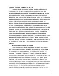 1 Chapter 4. Psychosis and Mania in Late Life ... - Cornell CARES