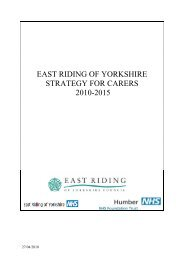Carers Strategy 2010- 2015 - East Riding Council