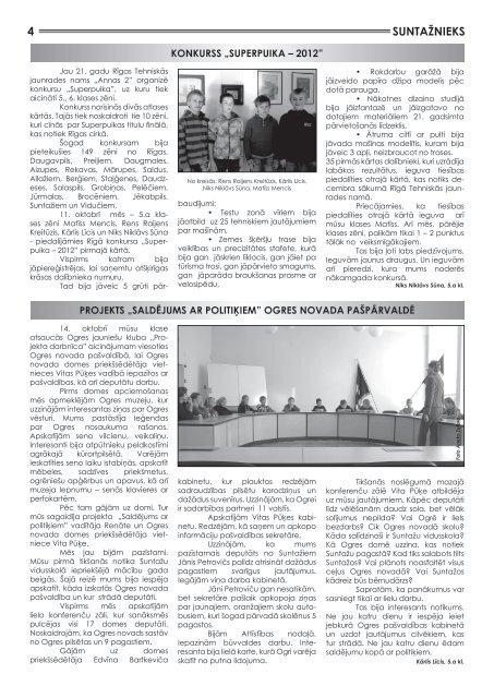 Suntažu pagasta laikraksts Suntažnieks, oktobris - Ogres novads