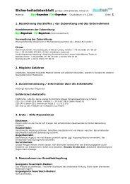 1. Bezeichnung des Stoffes / der Zubereitung und des ...