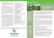 The disparity between South Africa's biotechnology policy legislation