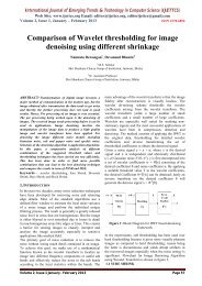 Comparison of Wavelet thresholding for image denoising using ...