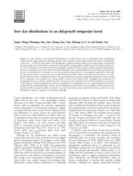 Tree size distributions in an old-growth temperate forest