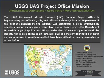 USGS UAS Mission Overview - (UAS) Project Office