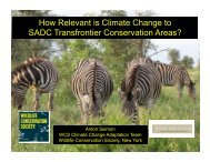 How Relevant is Climate Change to SADC Transfrontier ...
