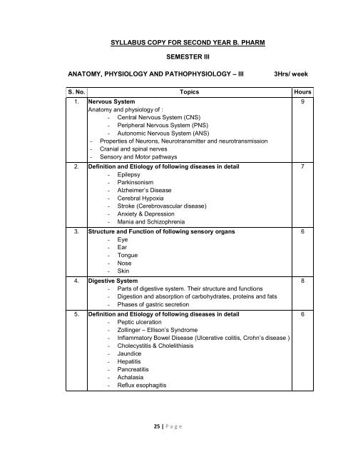 SYLLABUS COPY FOR SECOND YEAR B  PHARM     - Engineering