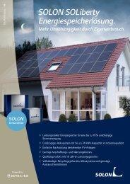 SOLON SOLiberty Energiespeicherlösung.