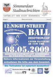 Jahrgang 19 Mittwoch, den 06. Mai 2009 Nummer 18 - Sömmerda