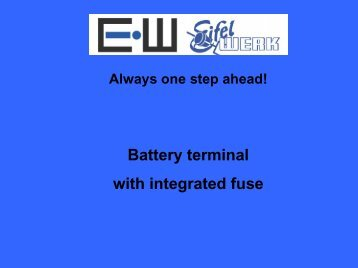 Battery terminal with integrated fuse