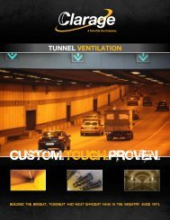 The Leader in Tunnel Ventilation - Clarage