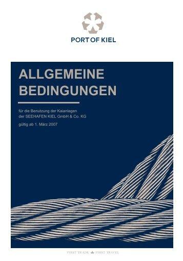 ALLGEMEINE BEDINGUNGEN - Port of Kiel