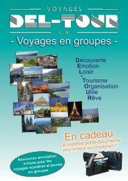 Voyages en groupes - Del-Tour