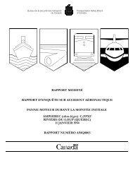 Consulter le rapport en PDF - Bureau de la sécurité des transports ...