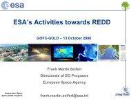 ESA activities on REDD - GOFC-GOLD LC-IT Office