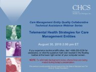 Download the Presentation - Center for Health Care Strategies