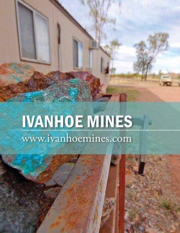 IVANHOE MINES - The International Resource Journal