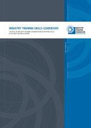 Industry Skills Leadership - Industry Training Federation