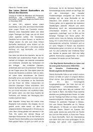 Das Leben Dietrich Bonhoeffers als Schule des Glaubens - Ev ...