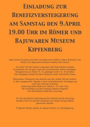 Esel Stücke - Römer und Bajuwaren Museum Burg Kipfenberg