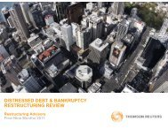 distressed debt & bankruptcy restructuring review - Thomson ...