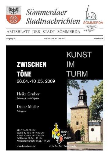 Amtsblatt Nr. 16 vom 22.04.2009 - Sömmerda