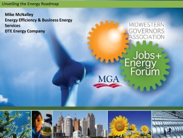 Unveiling the Energy Roadmap Mike McNalley Energy Efficiency ...