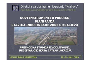 Novi instrumenti u procesu planiranja razvoja industrijske zone u ...