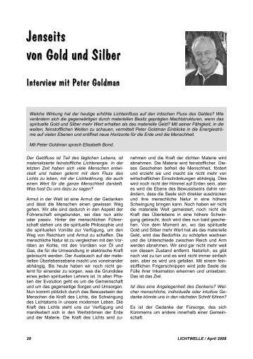 Jenseits von Gold und Silber - Lichtwelle