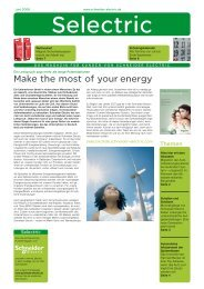Make the most of your energy - Schneider Electric Deutschland