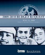 2009-10 Budget Request - Charlotte-Mecklenburg Schools