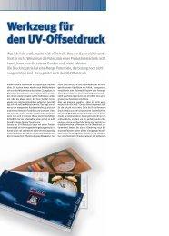 Werkzeug für den Uv-Offsetdruck