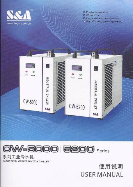 CW-5000 Chiller Manual. .. PDF. - Rabbit Laser USA
