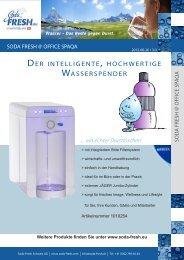 der intelligente , hochwertige wasserspender - Soda Fresh Schweiz ...