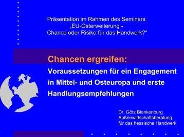 EU-Osterweiterung - Chance oder Risiko für das Handwerk?