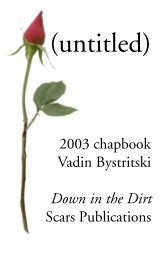 Down in the Dirt - Scars Publications