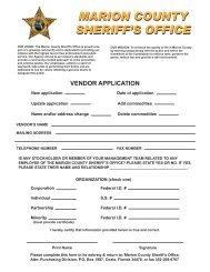 Vendor Application Form - Marion County