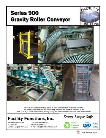 Series 900 Gravity Roller Conveyor - Facility Functions, Inc.