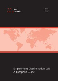 Employment Discrimination Law A European Guide - Ius Laboris