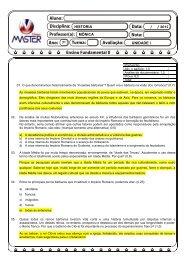 UNIDADE I 2012 HISTÓRIA MÔNICA 7º - Página não encontrada