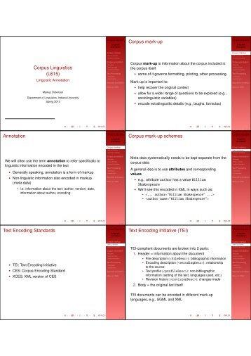 Corpus Linguistics - Indiana University