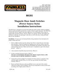 Magnetic Door Jamb Switches (Power Source ... - Painless Wiring