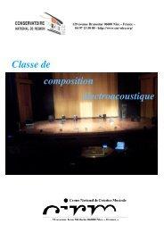 Classe de composition électroacoustique - Cirm