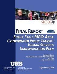 Final Report-Sioux Falls MPO Area Coordinated Public Transit ...